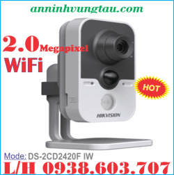 Camera Quan Sát IP WIFI HIKVISION DS-2CD2420F IW 2.0MP