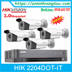 Trọn Bộ 04 Camera HIKVISION DS-2CE16DOT IT3 2.0MP
