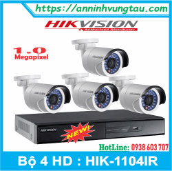 Trọn Bộ 04 Camera HIKVISION HD-TVI DS-2CE16COT IRP