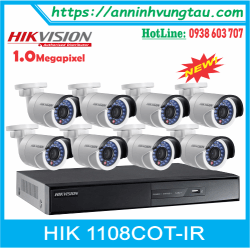 Trọn Bộ 08 Camera HIKVISION DS - 2CE16COT IR 1.0 MP