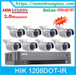 Trọn Bộ 08 Camera HIKVISION HD-TVI 2.0MP DS - 2CE16DOT IR